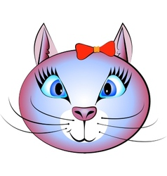 Pretty cat vector