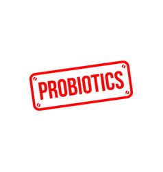 Probiotics label template design vector