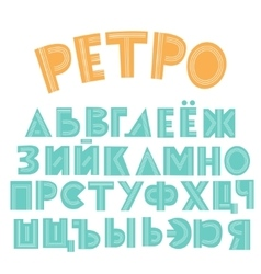 Retro cyrillic alphabet vector