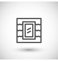Roof window line icon vector image