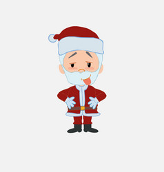 Santa claus in waiting attitude with funny vector