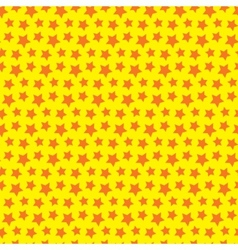 Seamless star texture Orange yellow background vector