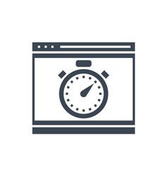 seo performance glyph icon vector image