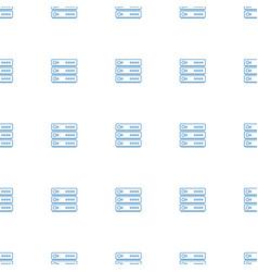 Server icon pattern seamless white background vector