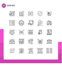 Set 25 commercial lines pack for trolley vector