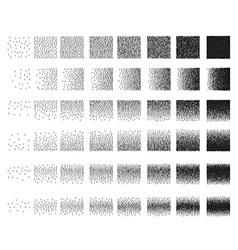 Set 48 vertical band Stipple pattern for design vector image