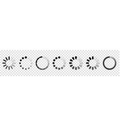 set loading icons buffer loader or preloader vector image