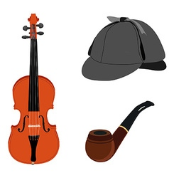 Sherlock Holmes set vector image