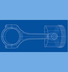 Sketch of piston rendering of 3d vector