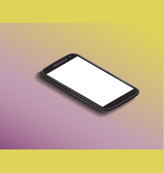 smartphone mock up vector image