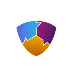 social media shield vector image