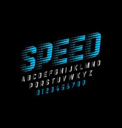 speedy style font vector image