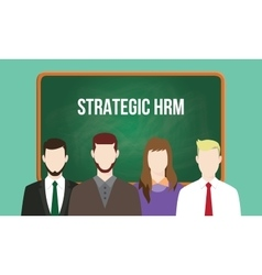 Strategic hrm or human resource management concept vector