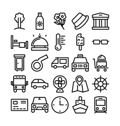 Summer and Travel Icons 6 vector image