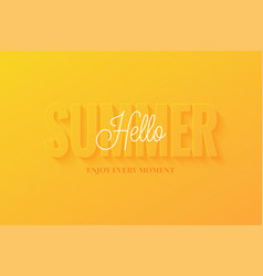 summer banner hello sign on yellow vector image
