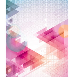 Sunset Triangles vector