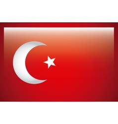 turkey flag design vector image