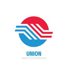 Union communication logo concept design vector