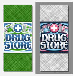 vertical banners for drug store vector image