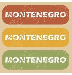 Vintage Montenegro stamp set vector