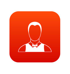 Waiter icon digital red vector