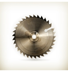 Circular saw blade old style vector image vector image
