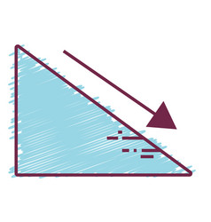 Financial triangle with arrow down to business vector