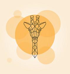 giraffe head geometric lines vector image