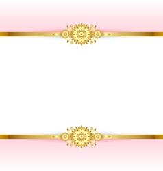 golden floral background vector image vector image