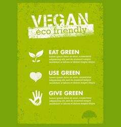 organic green vegan creative nature vector image