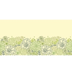 Green succulent plants horizontal seamless pattern vector image vector image