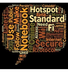 Notebook And Wifi Standards text background vector image vector image