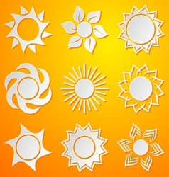 Abstract icons of sun vector