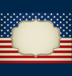 blank frame on america insignia vector image vector image