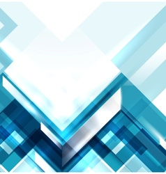 Blue modern geometric abstract background vector image vector image