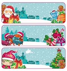 colorful christmas banners vector image vector image