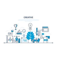 creativity creative thinking planning ideas vector image