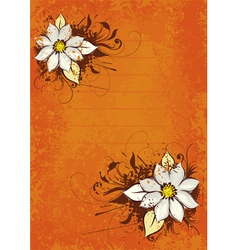 flower orange background vector image vector image