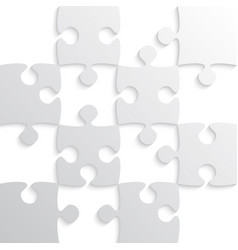 Grey puzzle pieces - jigsaw - chess vector