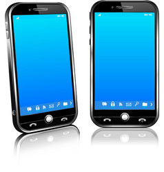 Phone Cell Smart Mobile 3D and 2D vector image