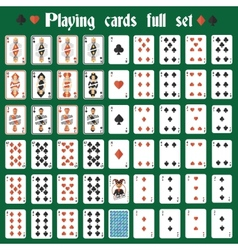 Playing cards full set vector image