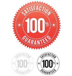Red Satisfaction Guaranteed Seals set vector image