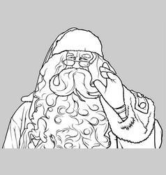 santa claus waving vector image vector image