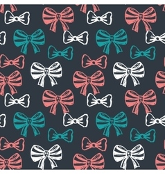 Seamless pattern with hand drawn sketch bows vector image vector image