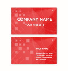 business card red blood donation vector image