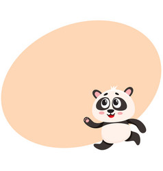 cute and funny smiling baby panda character vector image vector image