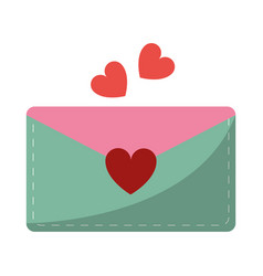 email envelope message love vector image