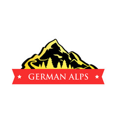 logo of german alps vector image vector image