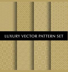 luxury golden patterns pack vector image vector image