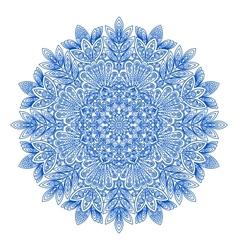 Ornamental round snowflake pattern vector image
